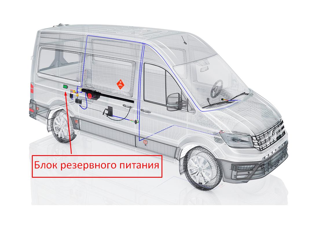блок резервного питания на проекции авто